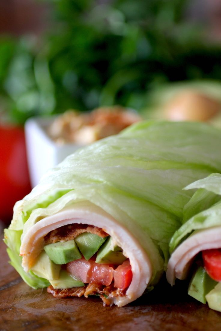 BLT Turkey Lettuce Wrap