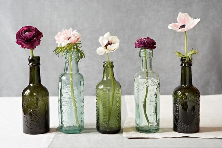 Flor de Capomo: Floreros vintage