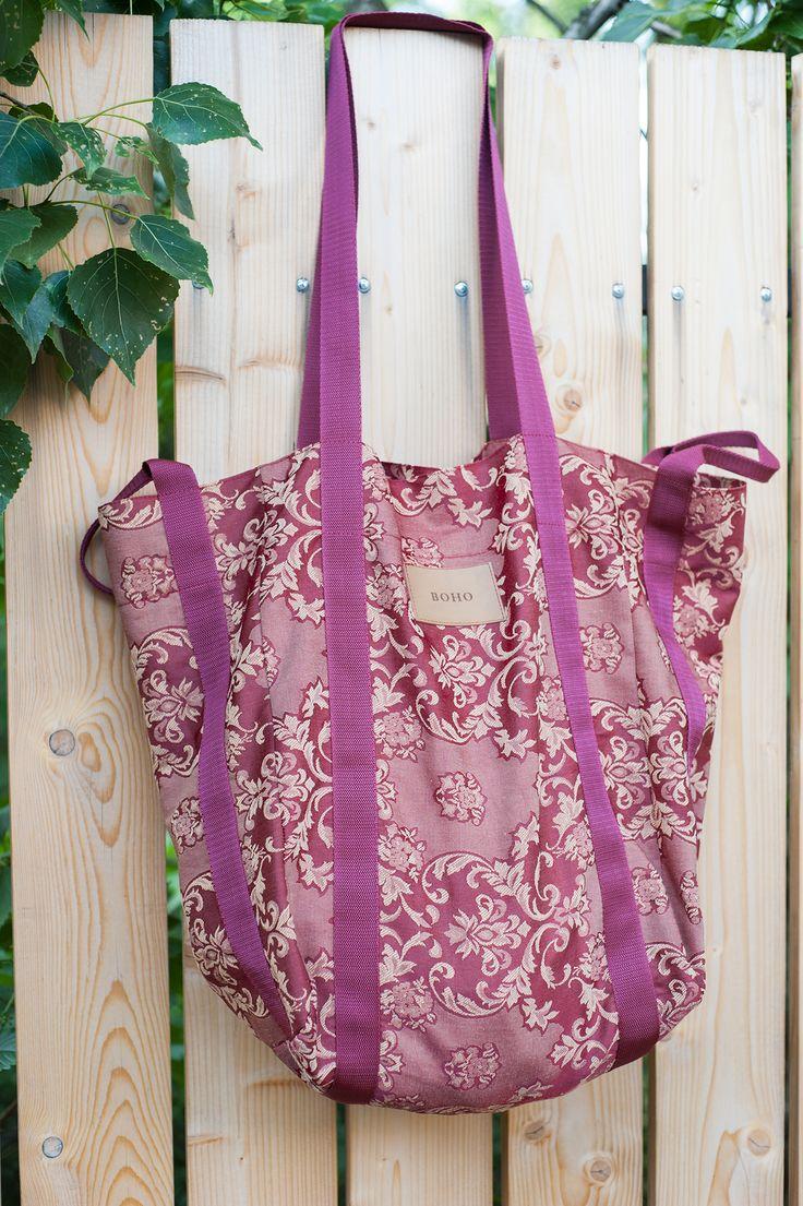 BOHO bag made from cotton with hidden zipped pocket.  www.boho.lu/store