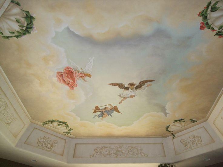 #interiorpainting #paint #ceiling #artwork #refinish
