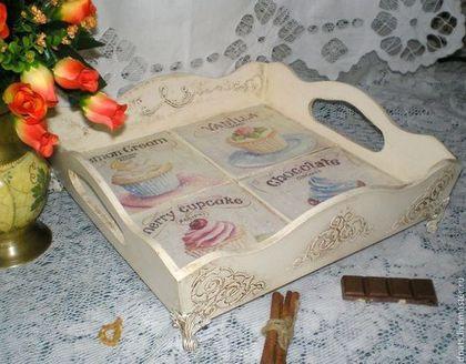 """Кухня ручной работы. Ярмарка Мастеров - ручная работа Поднос деревянный """" Ваниль"""". Handmade."""