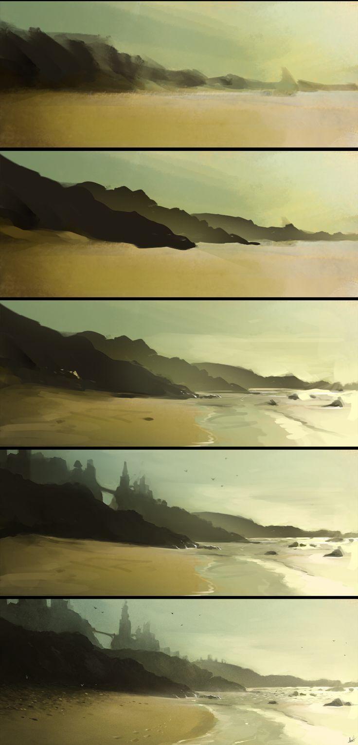 Ocean Fort Step by Step by AaronGriffinArt.deviantart.com on @DeviantArt