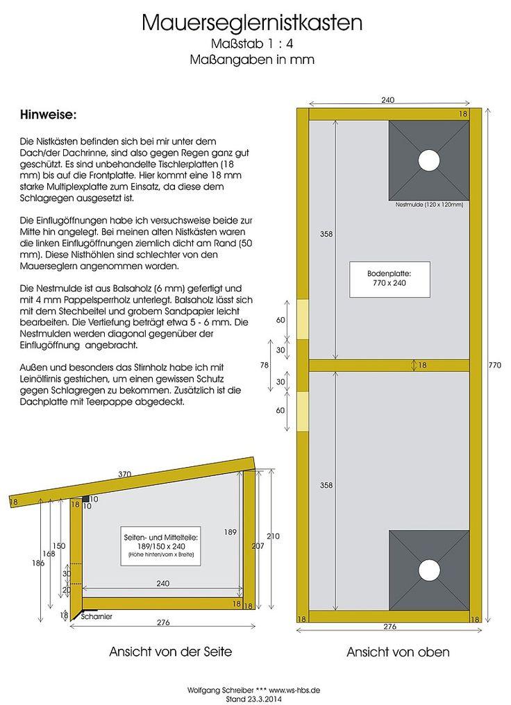 Bauplan Nistkasten