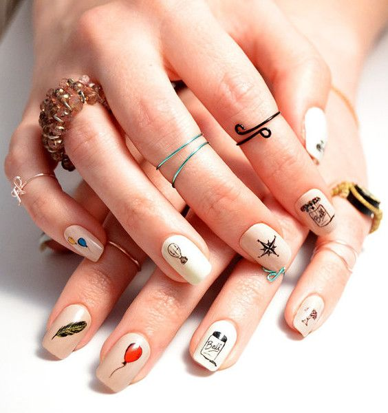 The 25 best hipster nail art ideas on pinterest black dot nails hipster nail decals prinsesfo Images