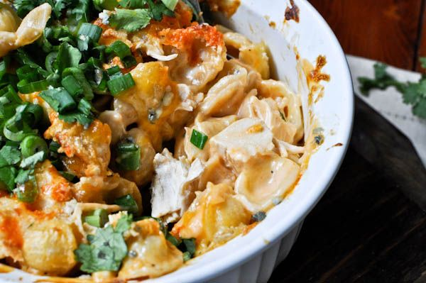 Making this for dinner tonight!  Baked buffalo chicken pasta.