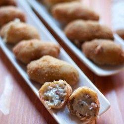 Mushrooms and ham croquettes