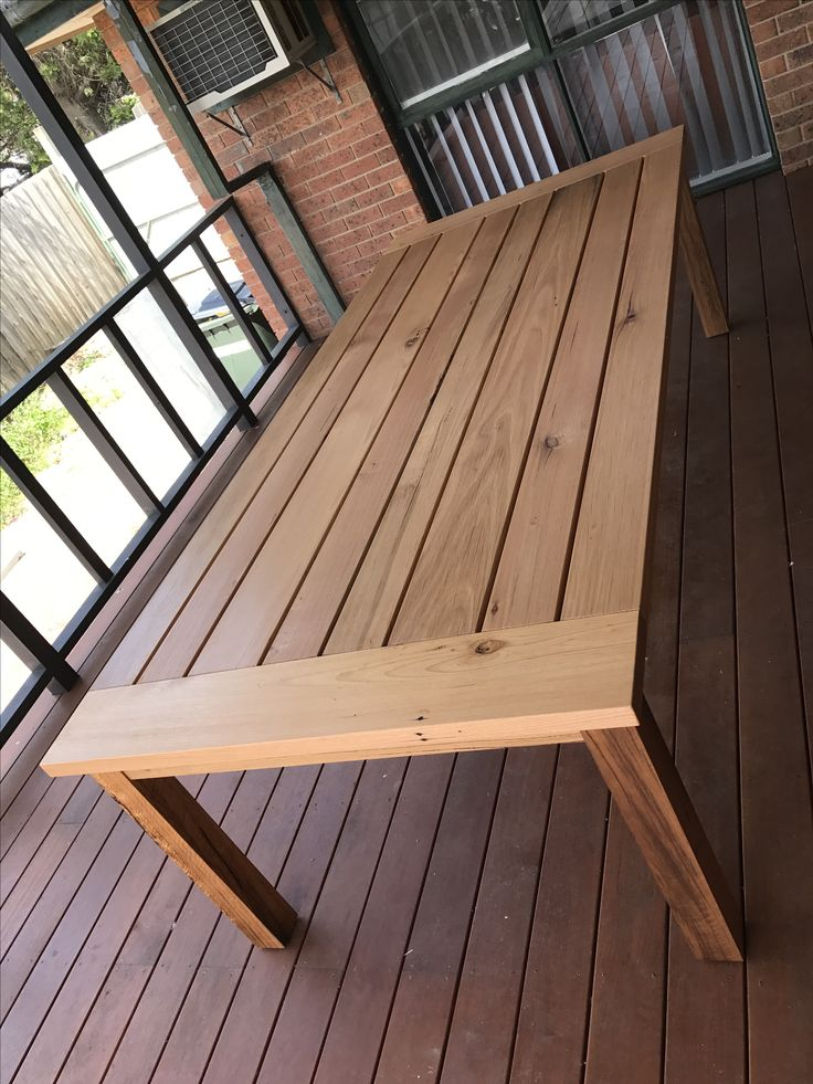 Recycled hardwood timber outdoor dining table
