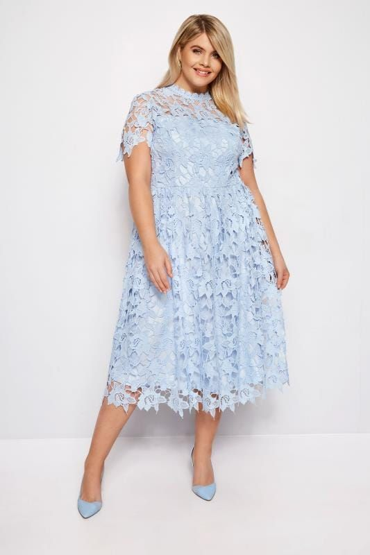 Plus Size CHI CHI Pastel Blue Claudia Dress | Sizes 16 to 26 in 2019 ...