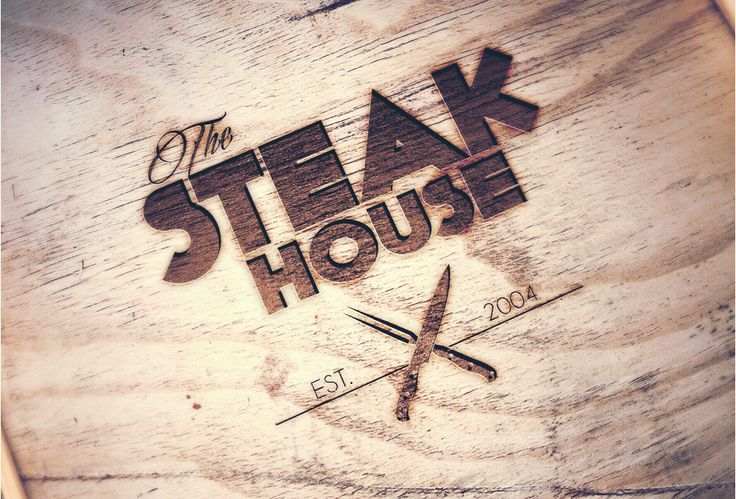 The Steak House | Logo on wood