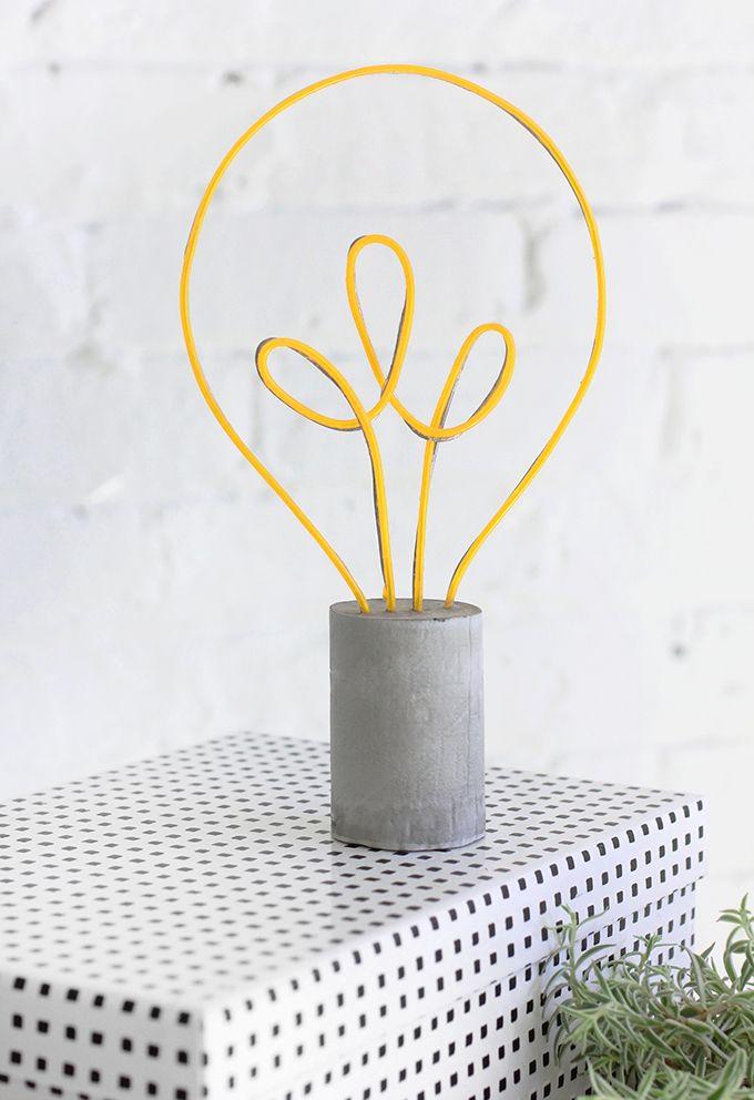 MY DIY   Neon Lightbulb Lamp