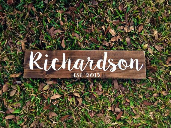Family Name Wood Sign Last name Wood Rustic by TheWoodGrainHome