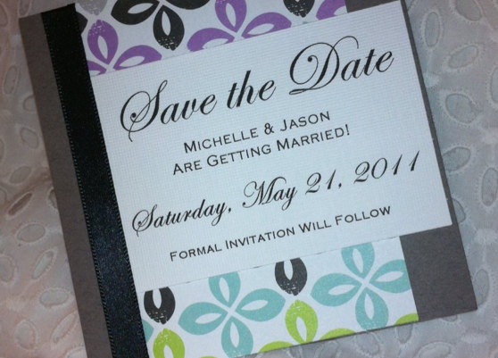 Save the Date Card or Magnet - Modern and Chic. $2.25, via Etsy.