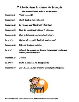 Great one-page French dialogues to help students gain confidence in speaking.