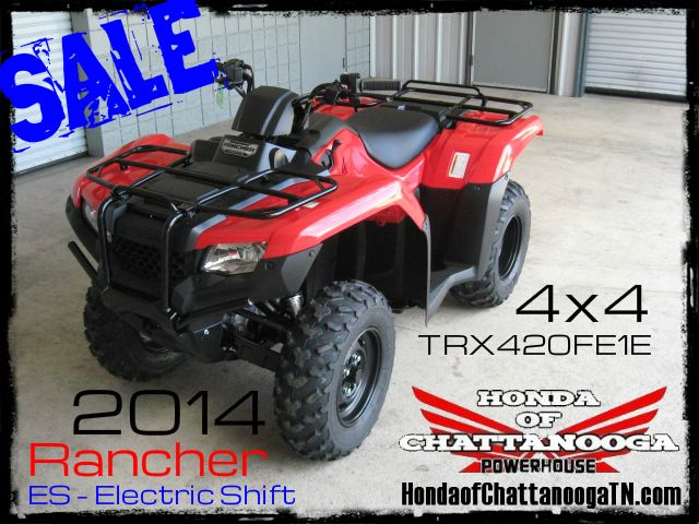 2014 Rancher 420 ES TRX420FE1E SALE Price at Honda of Chattanooga is too Low to advertise. Visit www.HondaofChattanoogaTN.com or Call / Email Kevin for the lowest & best 2014 TRX420 Rancher 4x4 ATV Sale Price. Our 2014 Rancher ES 420 ATVs are in stock and we have special financing promotions with $0 DOWN. 2014 TRX420FM1E / TRX420FM2E / TRX420FM1E / TRX420FM2E / TRX420FA1E / TRX420FA2E / TRX420FAE / TRX420FPAE. Wholesale Honda ATV Prices Honda of Chattanooga TN GA AL ATV Dealer