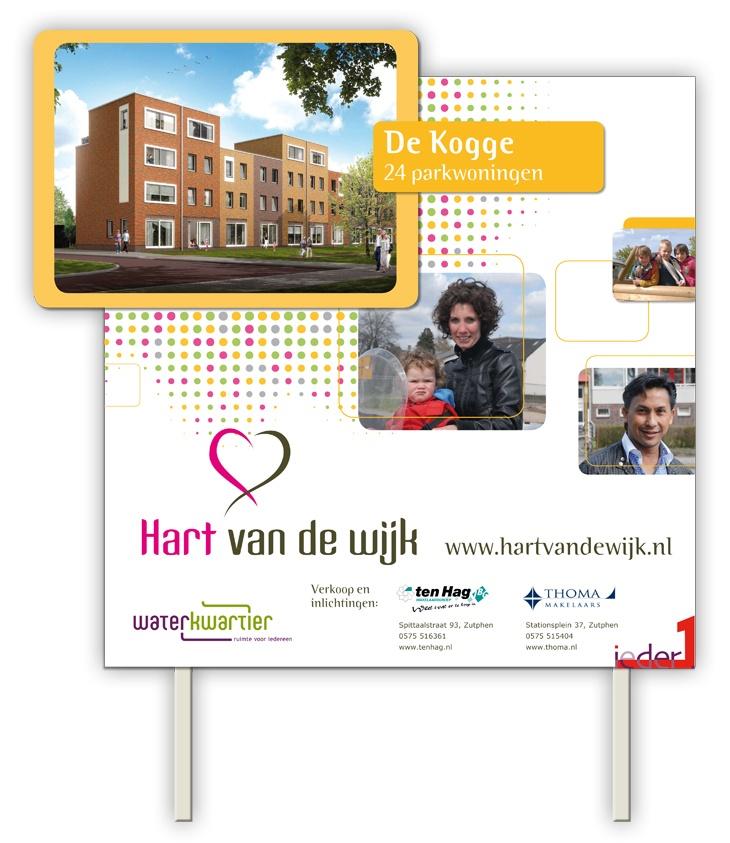 Bouwbord Hart van de Wijk, Zutphen