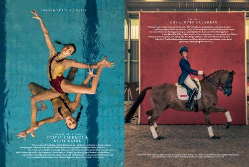 Synchronised swimmers Olivia Federici and Katie Clark and dressage rider…