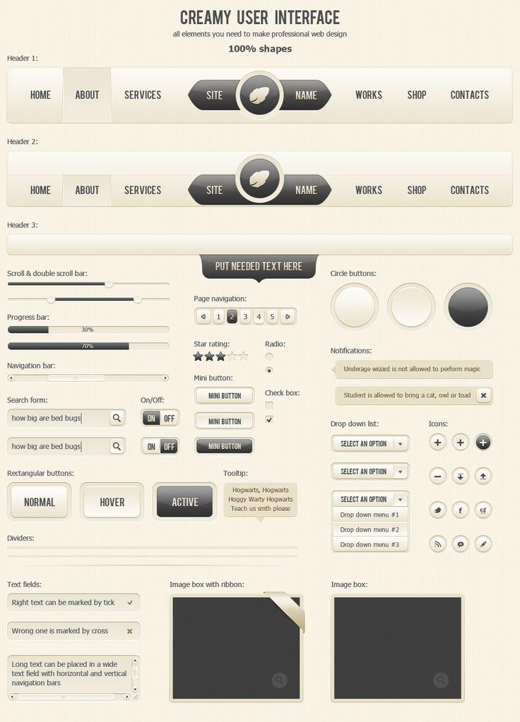 Creamy User Interface by AnnaLitvinuk.deviantart.com