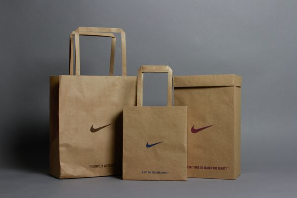 Nike Shopping Bags by Abby Chen, via Behance | Graphic | Pinterest ...