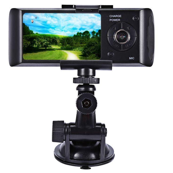 2.7 дюймов LCD Автомобильный Видеорегистратор Видеокамера HD 720 P GPS с Двумя Объективами Приборной Панели Автомобиля Видеокамера g-сенсор