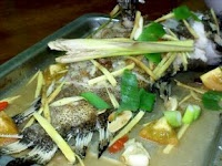 Steamed Fish (Kerapu) - doesn't look to nice but I'm sure it tastes good!
