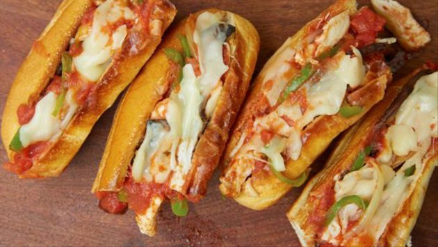 Chicken Cacciatore Subs Recipe : Rachael Ray : Food Network