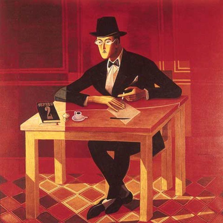 José de Almada Negreiros - Retrato de Fernando Pessoa, 1954