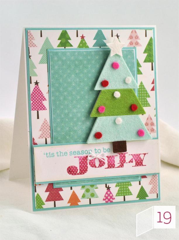 Felt Christmas Tree Card in 13 Handmade