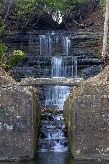 Fallingbrook Falls, Ottawa, Ontario by Derek Mellon, via Flickr