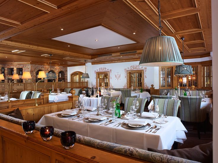 Alpine aesthetic ambience of our restaurant: 5-star luxury hotel in Austria - Schlosshotel Fiss