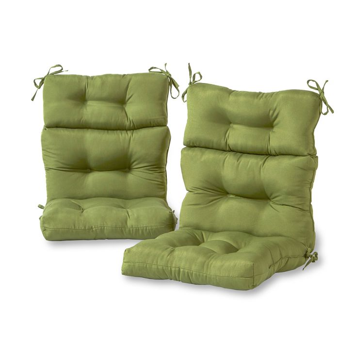outdoor highback chair cushion set set of 2