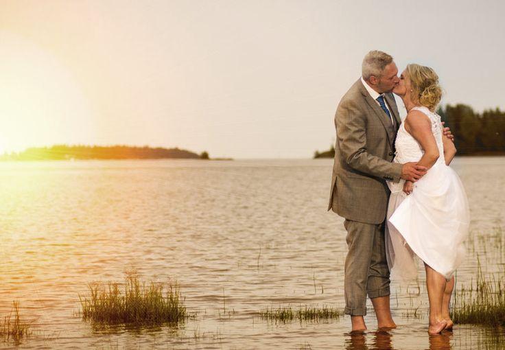 Wedding photo. Sunset. Bröllopsfoto