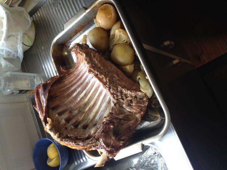 Lamb ribs Greek style