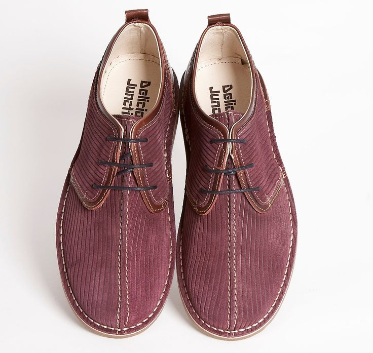 Delicious Junction Afterglow Corded Suede / Leather Trim Lace Up Shoe Burgundy  Thumbnail 2