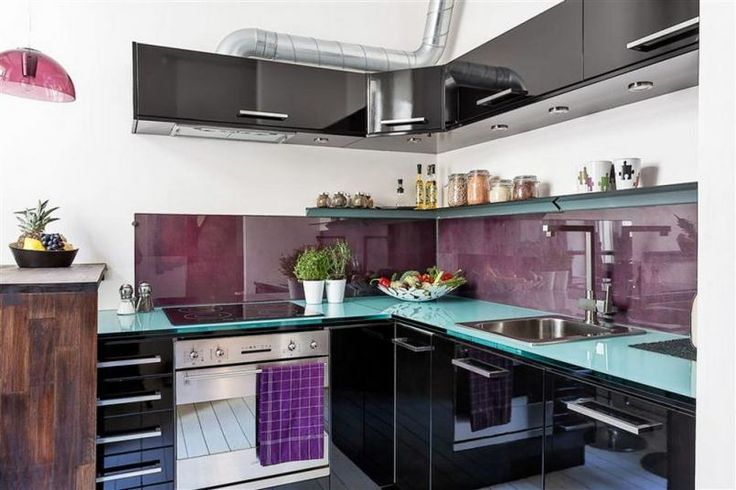 Modern kitchen in a small apartment