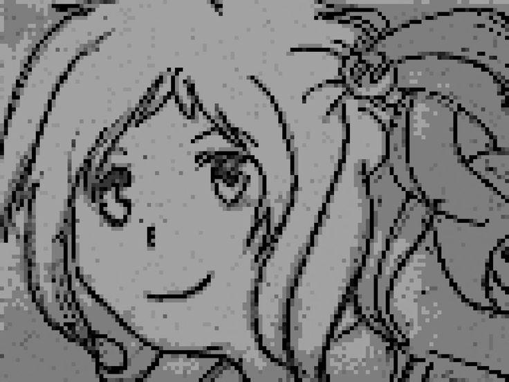 Inori Aizawa Edited to Pixel by BoxKitsune