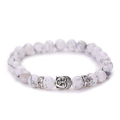 Strand armband vintage wit zilver kleur Yoga geometrische vorm