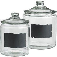 Pier One: Chalkboards, Ideas, Chalkboard Jars, Craft, Chalk Board, Chalkboard Paint, House, Kitchen, Diy
