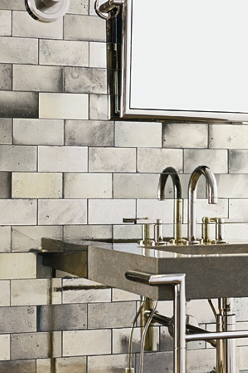 Ann Sacks Antique Mirrored Subway Tiles Hardware Fixtures Materials Pinterest