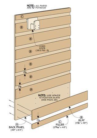 Use wide shiplap to make Slat-Wall - move decor shelves seasonally   Woodsmith Plans