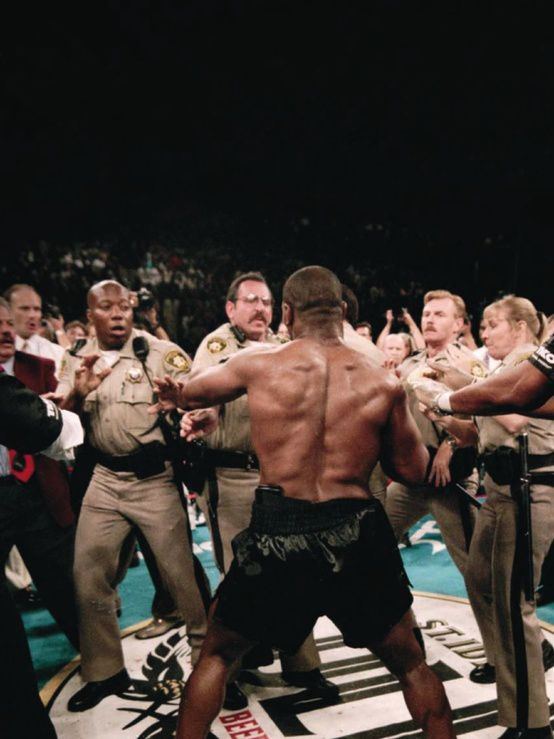 Don't Fuck with Mike Tyson, 1997.. by Michael Brennan for Holyfield vs Tyson II at the MGM Grand, Las Vegas