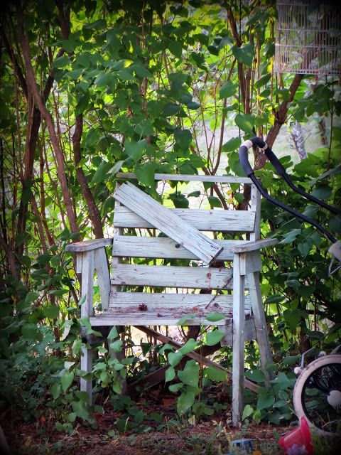 old garden chair
