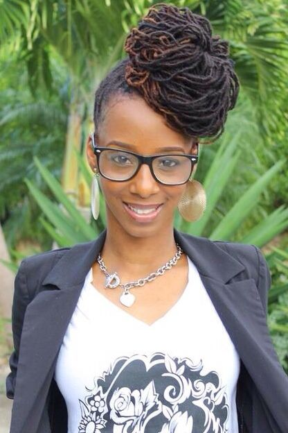 loc updo - sweet! - 220 Best Loc Updos Images On Pinterest Dreadlock Hairstyles