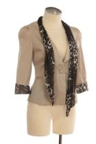 DETACHABLE LEOPARD PRINT SCARF JACKET