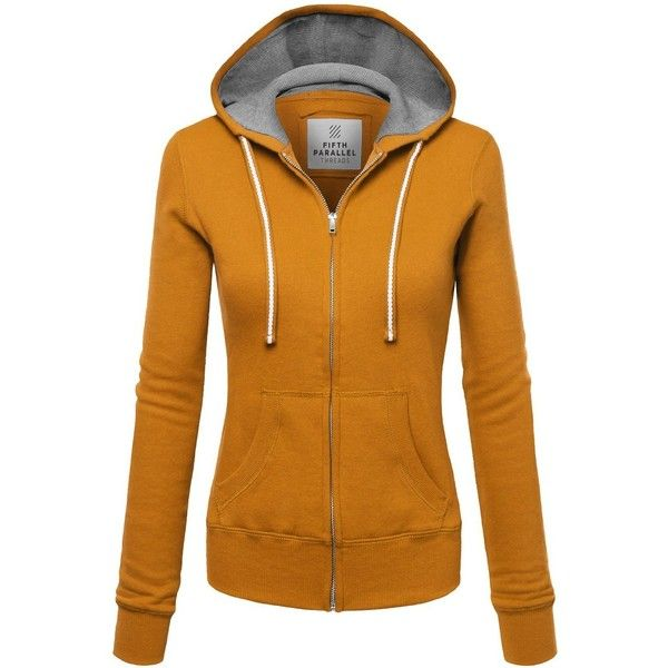 FPT Womens Basic Thermal Zip-Up Hoodie (190 ZAR) ❤ liked on Polyvore featuring tops, hoodies, hooded pullover, brown zip up hoodie, brown tops, zip up hoodies and thermal zip up hoodies