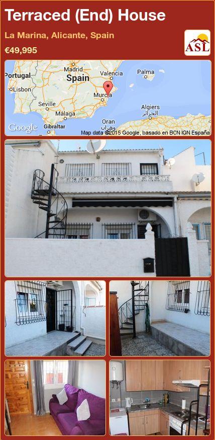 Terraced (End) House in La Marina, Alicante, Spain ►€49,995 #PropertyForSaleInSpain