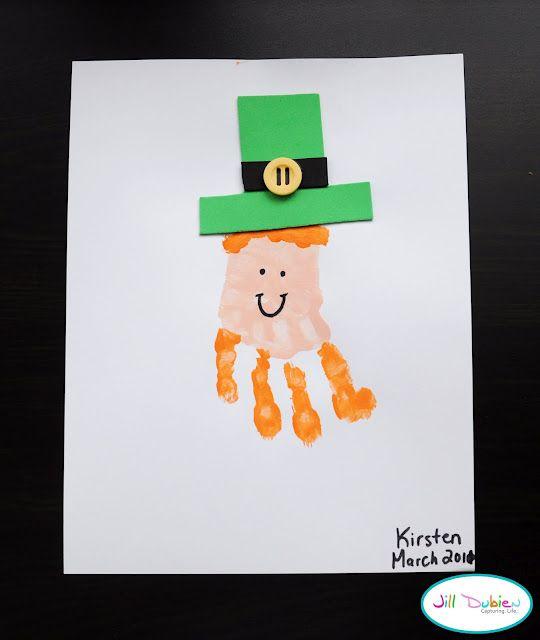 St. Patrick's Day: Leprechaun Handprint, Hands Prints Crafts, Prints Leprechaun, Ideas, Handprint Leprechauns, Handprint Art, St. Patrick'S Day, Kids Crafts, St Patrick'S Day