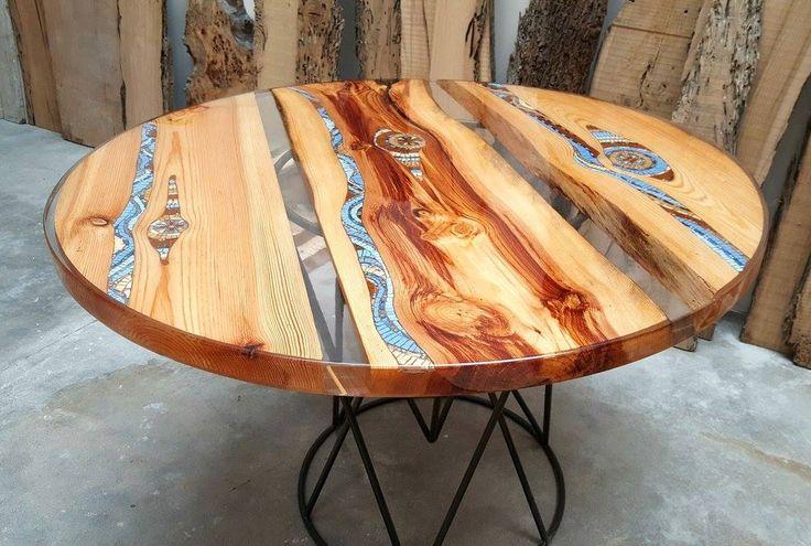 17 migliori idee su tavoli in legno su pinterest tavoli da cucina rustici e tavoli fattoria - Tavoli in legno e resina ...