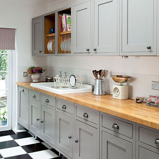 Love Shaker-style kitchens? Take a look at this open-plan kitching area from Ideal Home for inspiration. You'll find more kitchen decorating and shopping galleries at housetohome.co.uk.
