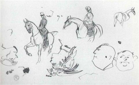 Amazone et divers Henri de Toulouse Lautrec