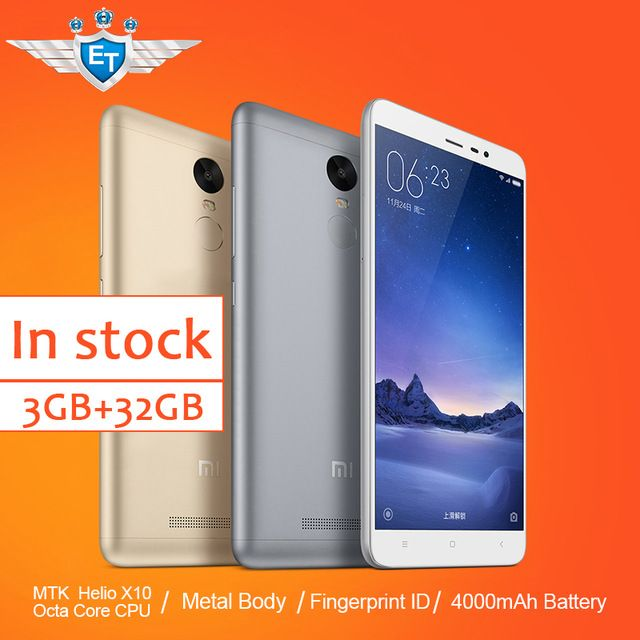 Original Xiaomi Redmi Note 3 Prime FDD Cell Phone MTK Helio X10 Octa Core MIUI7 Fingerprint Metal Body 3GB RAM 32GB ROM 4000mAh US $199.99-223.99 /piece To Buy Or See Another Product Click On This Link  http://goo.gl/EuGwiH
